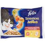 Purina - Sensation Jellies - Manzo e Pollo - 4 x 100 gr