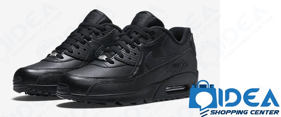 Sneakers Nike Scarpe Leather Nero Pelle Air Max Ginnastica Uomo 90 Odxpqpaw
